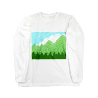青空と雲と青い山脈ズ Long sleeve T-shirts
