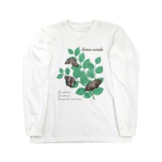 アカボシゴマダラとエノキ Long sleeve T-shirts