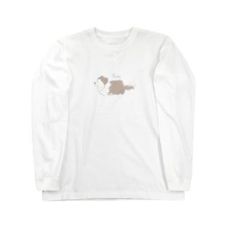 うちのこグッズまるまる🐾ワンコ・うさぎグッズの韓国っぽシェルティグッズ♪(シェルティ)(シェルティー) Long sleeve T-shirts