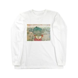 蹲(つくばい) Long sleeve T-shirts