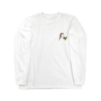 朝市で見かける花屋ガール Long sleeve T-shirts