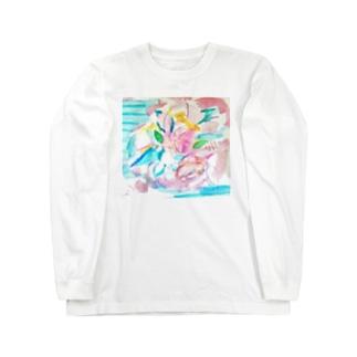 花のイロ Long sleeve T-shirts