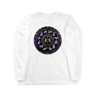 兎星座盤彩色 Long sleeve T-shirts