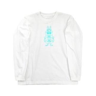 ウサギです。 Long sleeve T-shirts