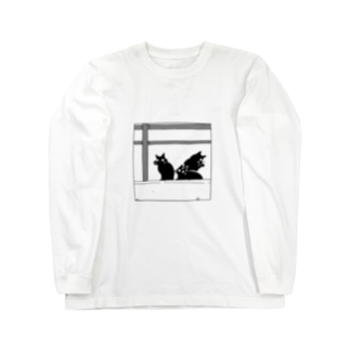 黒猫たち Long sleeve T-shirts