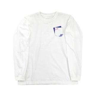 偽物ポケット★爽やか色 Long sleeve T-shirts