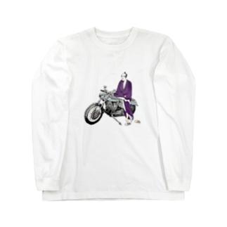 浮世絵とバイク-man- Long sleeve T-shirts