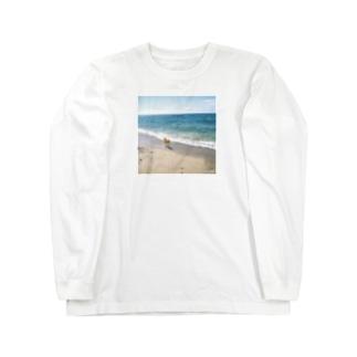 渚と犬 Long sleeve T-shirts