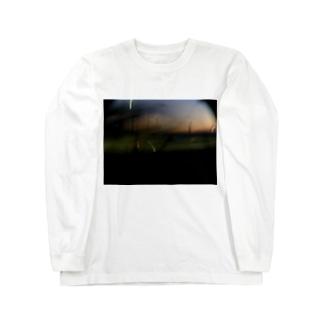 荒ぶる夕やけ 夏 Long sleeve T-shirts