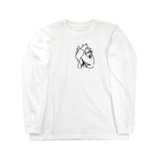心臓ペンギン Long sleeve T-shirts