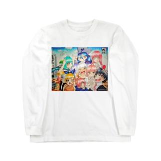 魂月ファミリー&つーちゃん Tシャツ Long sleeve T-shirts