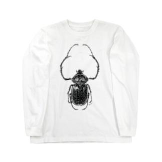 テルヌマテナガコガネ_モノクロ Long sleeve T-shirts