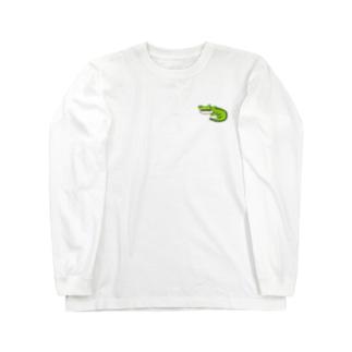 無気力水族館 ワニ Long sleeve T-shirts