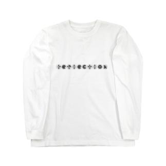 【reflection】蝶/モノトーン Long sleeve T-shirts