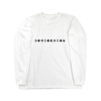 【reflection】蝶ロンT/ブルー Long sleeve T-shirts