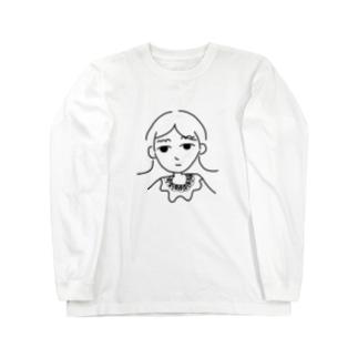 不機嫌ガール Long sleeve T-shirts