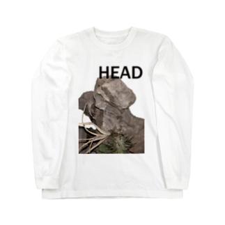 HEAD <FONT COLOR : BLACK> Long sleeve T-shirts