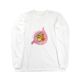 Bento in 胃袋 ウサギリンゴ Long sleeve T-shirts