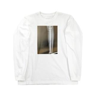 ぺいちゃん骨折 Long sleeve T-shirts