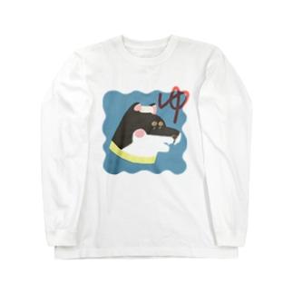 銭湯 : しば湯 (黒) ロングTシャツ Long sleeve T-shirts