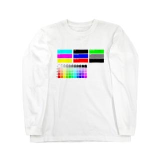 カラーチャート風 Long sleeve T-shirts