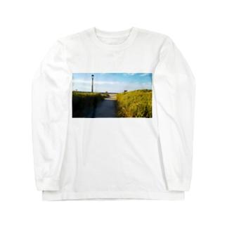 海へと続く道 Long sleeve T-shirts