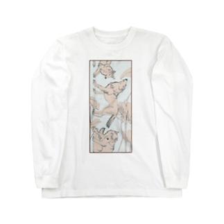 白盆 White August Long sleeve T-shirts