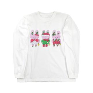 うさぎクリスマス Long sleeve T-shirts