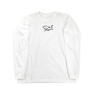 泳いでくるピチョピチョ(黒ロゴ) Long sleeve T-shirts