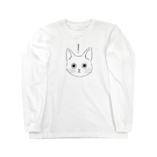 surprise ねこ Long sleeve T-shirts