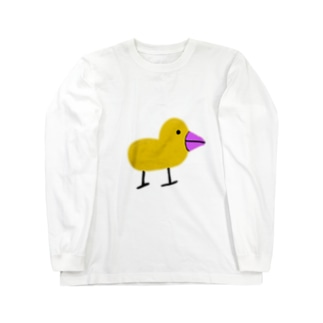 アヒルみたいないきもの。 Long sleeve T-shirts
