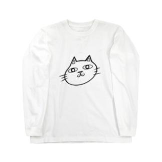 現実逃避キャット Long sleeve T-shirts