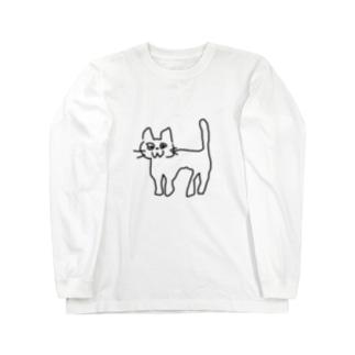 ヘロヘロな猫 Long sleeve T-shirts