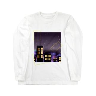 シンプルな夜景 Long sleeve T-shirts