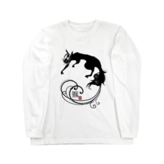 黒狐(黒) Long sleeve T-shirts