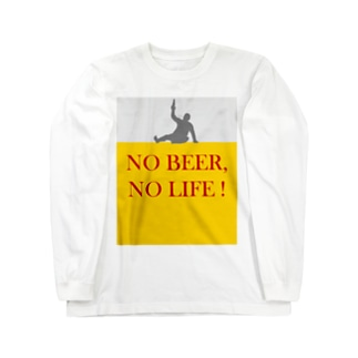 TuneBsideのNO BEER, NO LIFE ! Long sleeve T-shirts
