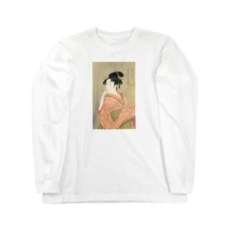 ビードロを吹く娘 utamaro Long sleeve T-shirts