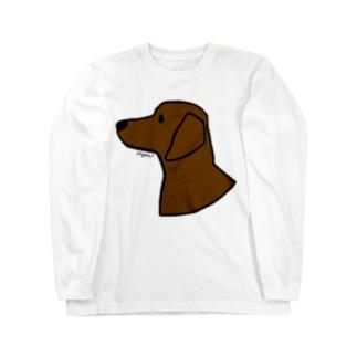 ダックスフンド Long sleeve T-shirts