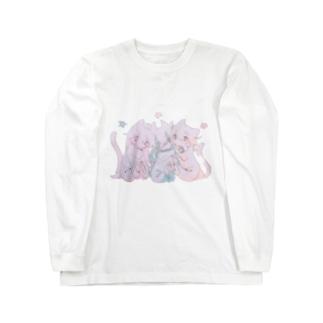 ねこんぺいと Long sleeve T-shirts
