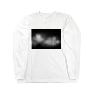 呼吸(モノクロ)フロント Long sleeve T-shirts