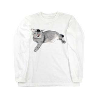 猫ののら2 Long sleeve T-shirts