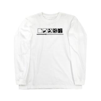 milkゲージ Long sleeve T-shirts