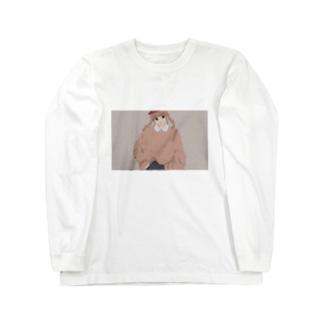 秋のゆるスウェット女子 Long sleeve T-shirts