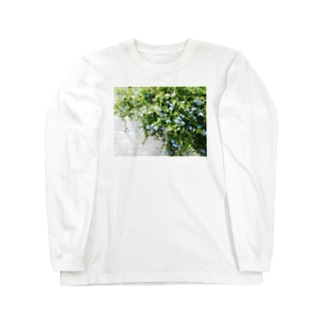 ルリマツリ Long sleeve T-shirts