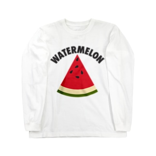 WATERMELON 扇形 Long sleeve T-shirts