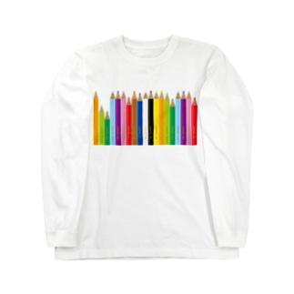 gorozomachine_storeの色鉛筆 Long Sleeve T-Shirt