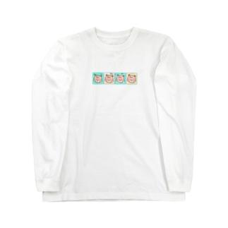 ファンシー・くま Long sleeve T-shirts