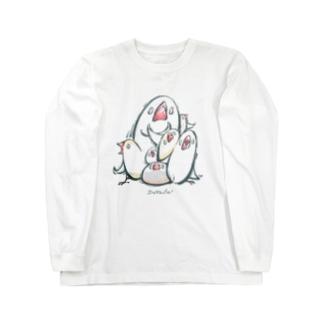 でぃふぇんす!-ブンのまもりー(文鳥) Long sleeve T-shirts