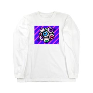眼塊(めんたま) Long sleeve T-shirts