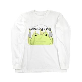 原知也、略してHaTo@作曲家のListening Frog Long sleeve T-shirts